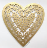 Decorative Gold Paper Cut Heart