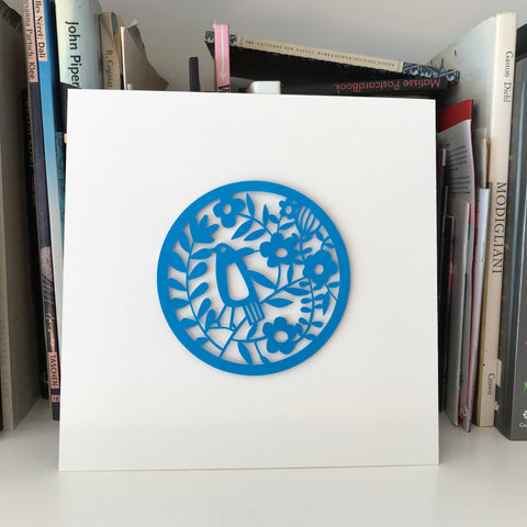 Blue Bird Paper Cut