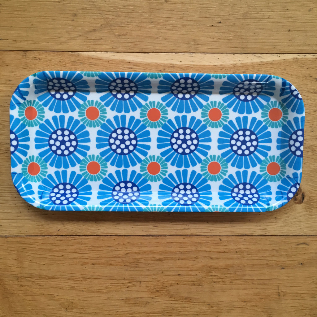Blue Marguerite Tray
