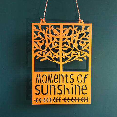 Moments of Sunshine Paper Cut for Cwm Taf Morgannwg Health Board
