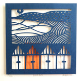 Beach Huts Limited Edition Paper Cut NEW