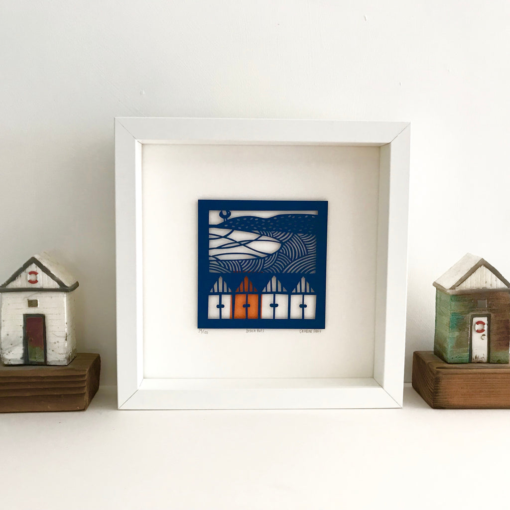 Beach Huts Limited Edition Paper Cut
