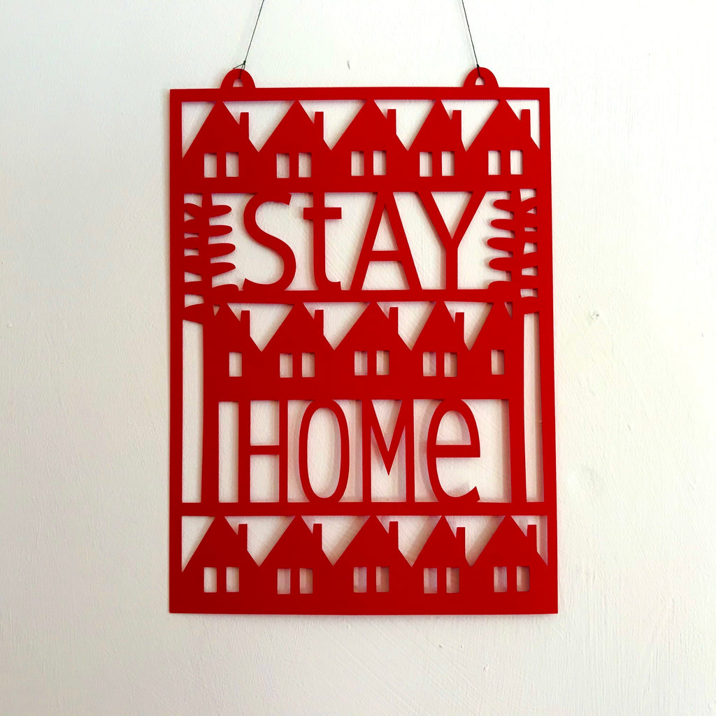 Stay Home Paper Cut