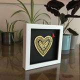Framed Golden Papercut Heart