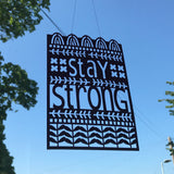 Stay Strong Paper Cut for The Makers Guild in Wales