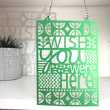 Wish You Were Here Paper Cut