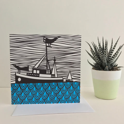 4 Coastal Greeting Cards FREE UK DELIVERY
