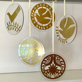 50th Anniversary Glass Hanging FREE UK DELIVERY
