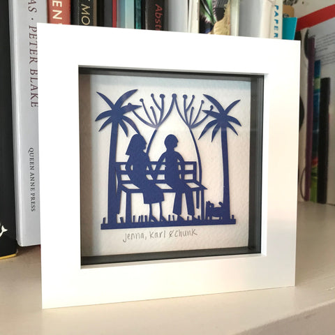 Personalised Framed Mini Paper Cut