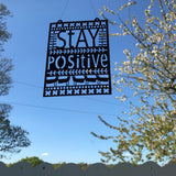 Stay Positive Paper Cut