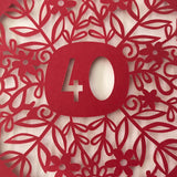 Ruby Anniversary Paper Cut Floral