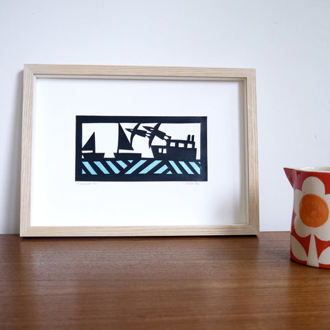 Boats Paper Cutting Template