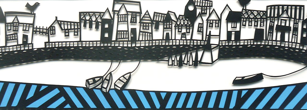 Caroline Rees papercut in progress