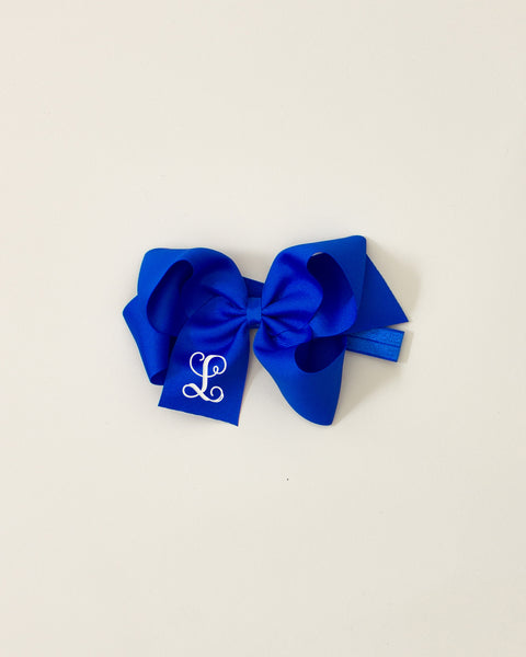 Electric Blue Classic Bow Headband
