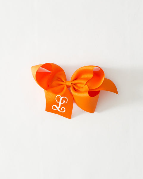 Orange Classic Bow on ALLIGATOR CLIP