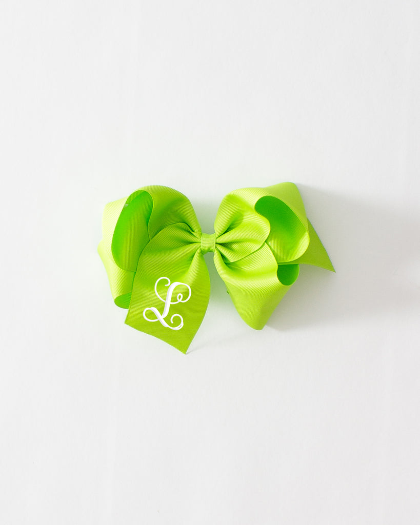 Lime Classic Bow on ALLIGATOR CLIP