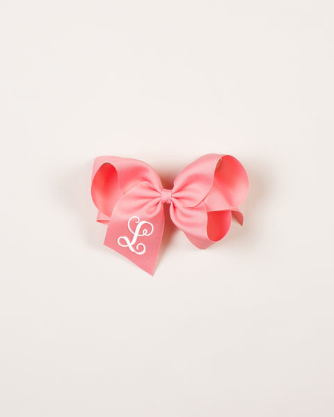 Shell Pink Classic Bow on ALLIGATOR CLIP