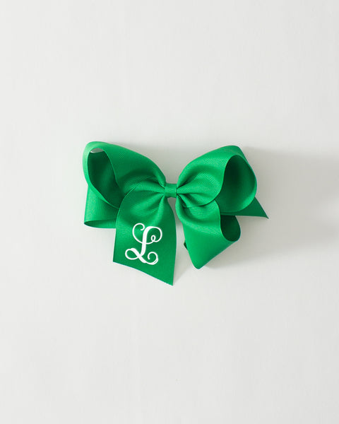 Emerald Classic Bow on ALLIGATOR CLIP