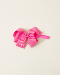 Medium Pink Classic Bow Headband