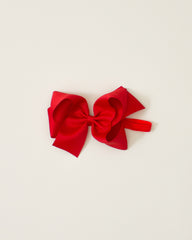 Red Classic Bow Headband