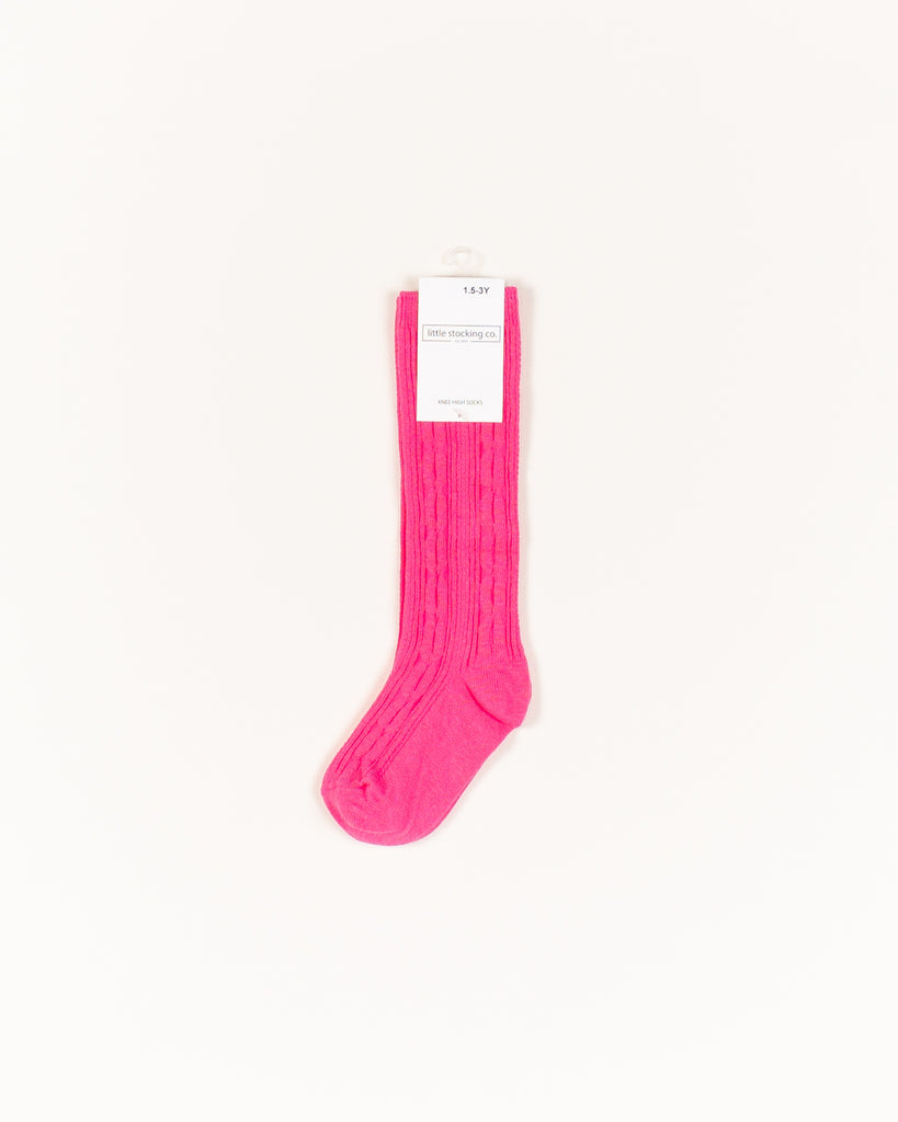Hot Pink Knee High Socks