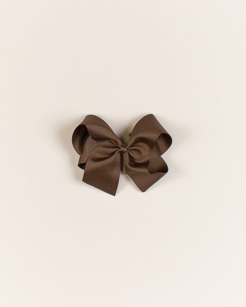 Brown Classic Bow on ALLIGATOR CLIP