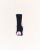 Classic Cable Knee High Socks - Navy