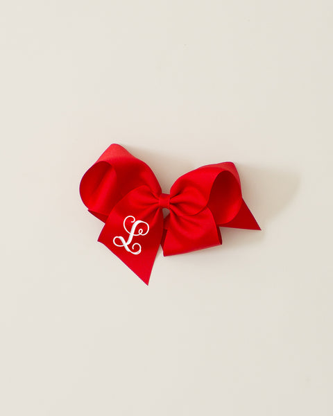 Red Classic Bow on ALLIGATOR CLIP