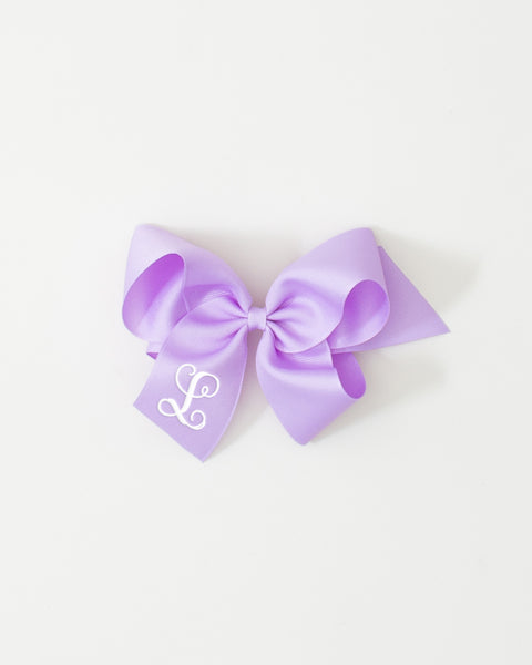 Lavendar Classic Bow on ALLIGATOR CLIP
