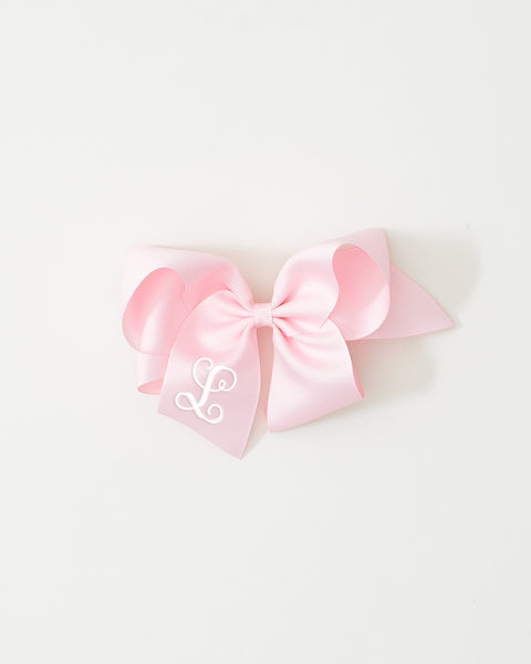 Light Pink Classic Bow on ALLIGATOR CLIP