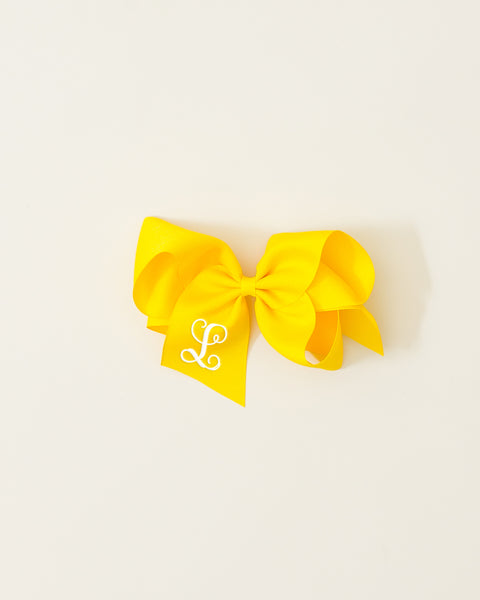 Yellow Classic Bow on ALLIGATOR CLIP