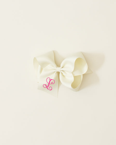 Ivory Classic Bow on ALLIGATOR CLIP