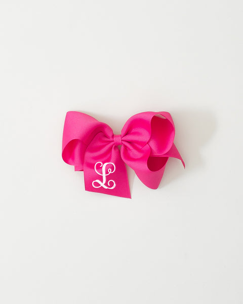 Hot Pink Classic Bow on ALLIGATOR CLIP