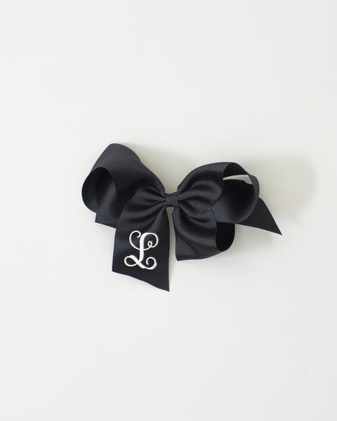 Black Classic Bow on ALLIGATOR CLIP