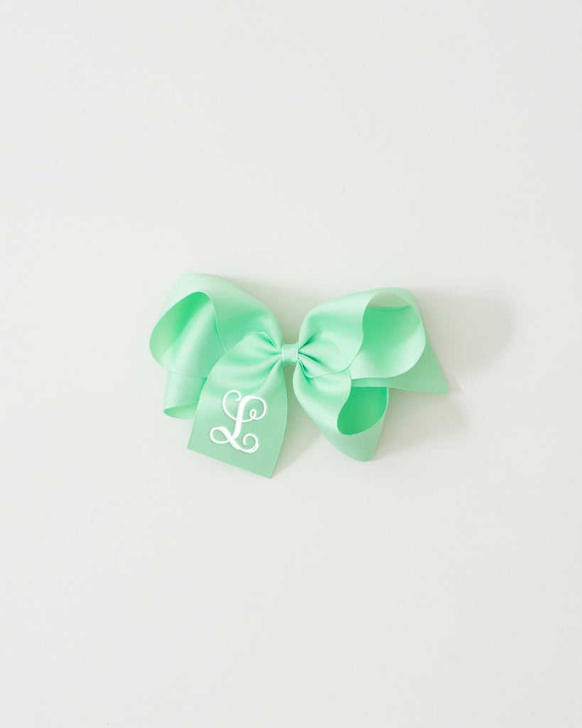 Mint Classic Bow on ALLIGATOR CLIP