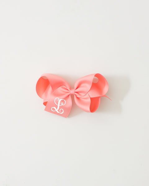 Coral Classic Bow on ALLIGATOR CLIP