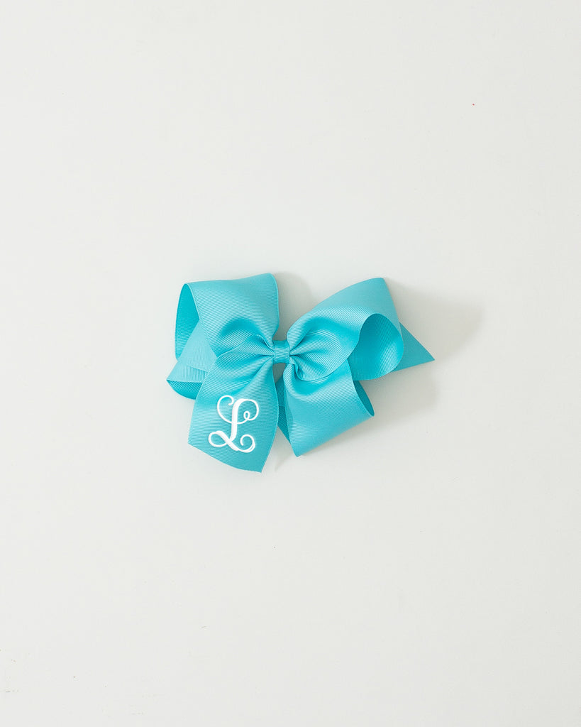 Teal Ice Classic Bow on ALLIGATOR CLIP
