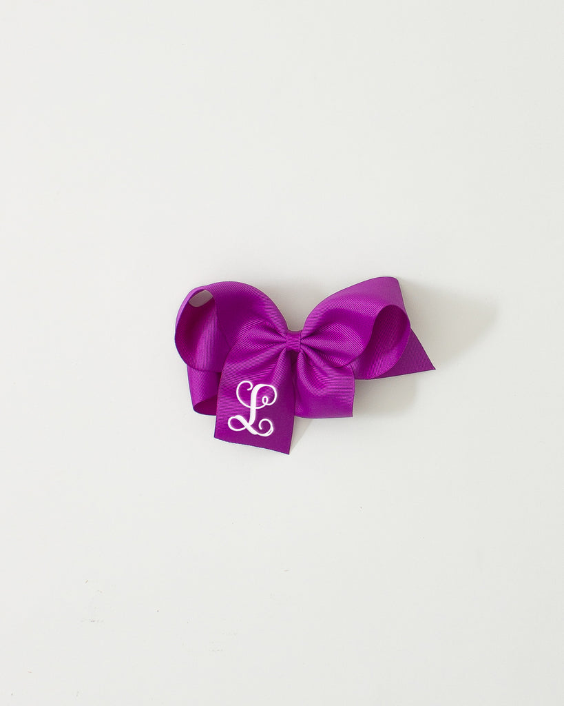 Royal Orchid Classic Bow on ALLIGATOR CLIP