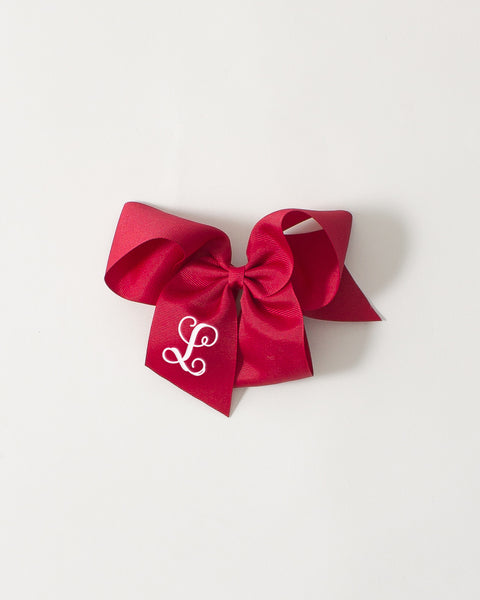 Cranberry Classic Bow on ALLIGATOR CLIP