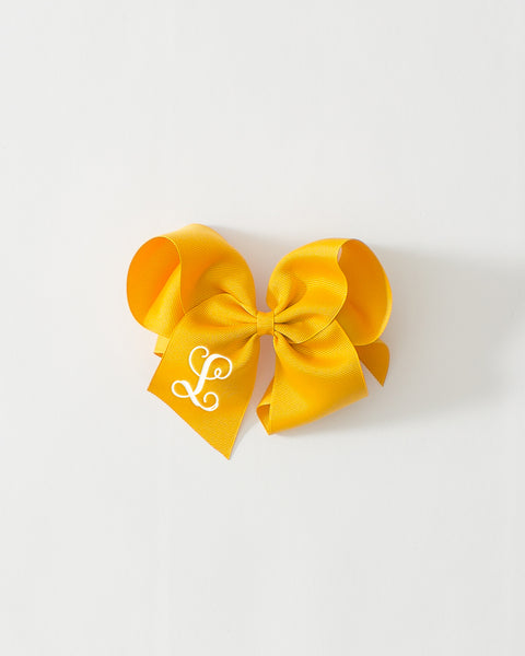 Mustard Classic Bow on ALLIGATOR CLIP