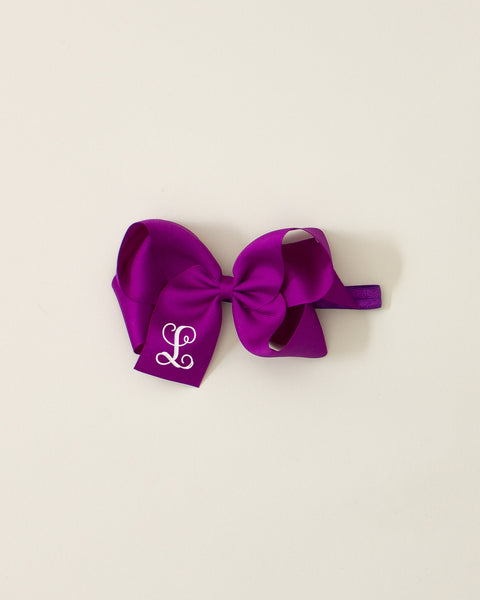 Royal Orchid Classic Bow Headband