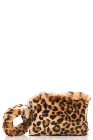 Leopard Fur Clutch