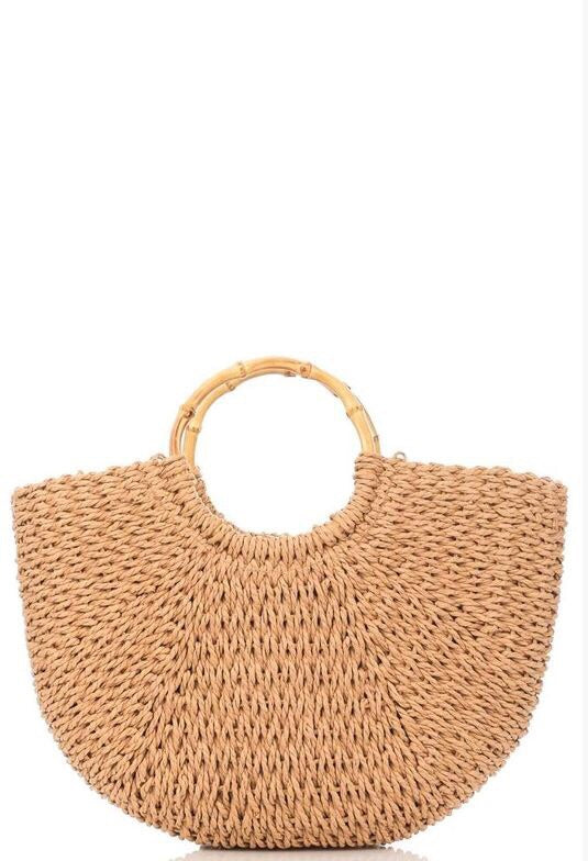 Tan Knitted Bag