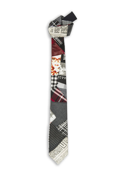 Patchwork différentes couleurs inégales - Unequal original patchwork fabric tie multiple colors and fabrics