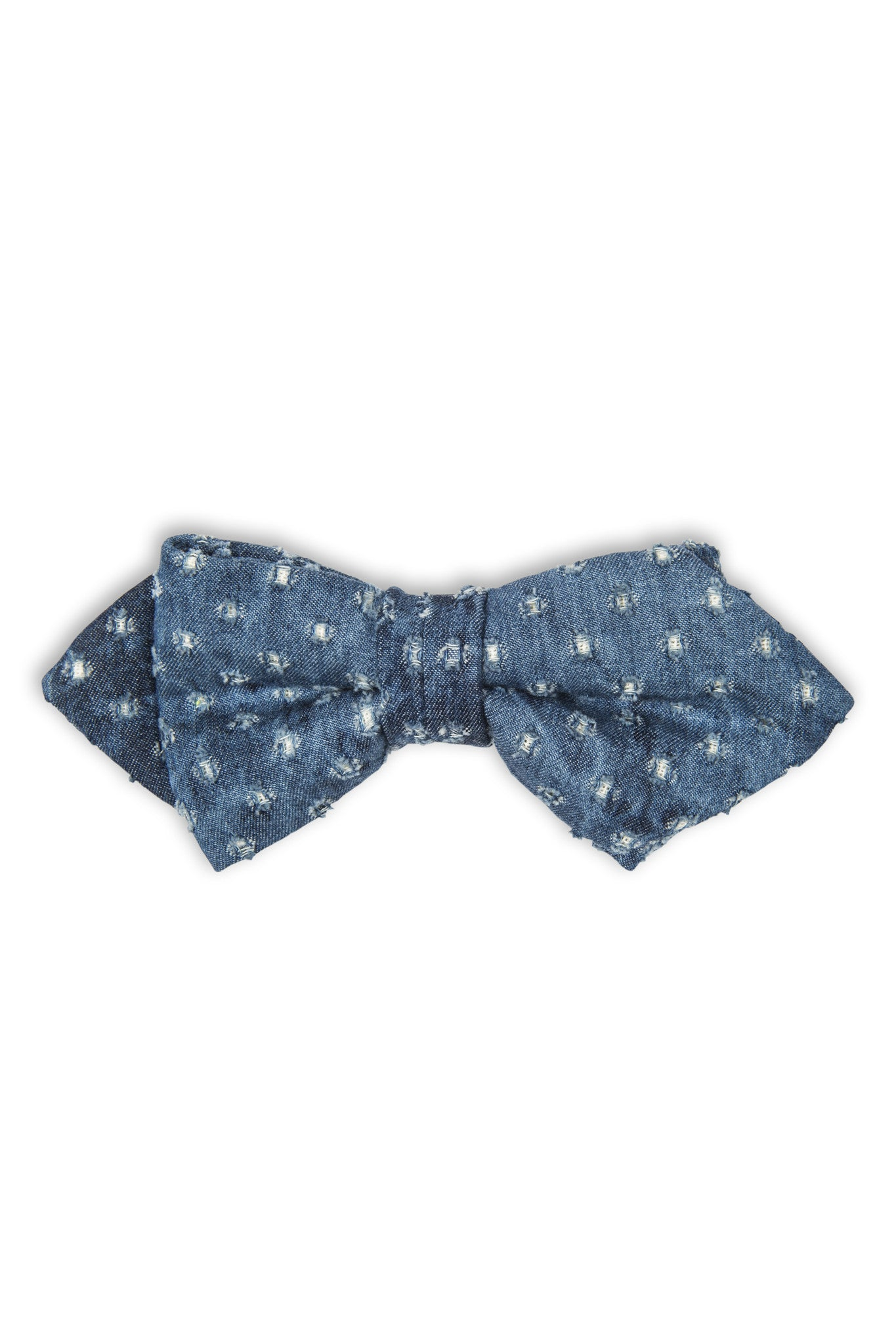 Noeud papillon en denim  - Denim fabric bow tie