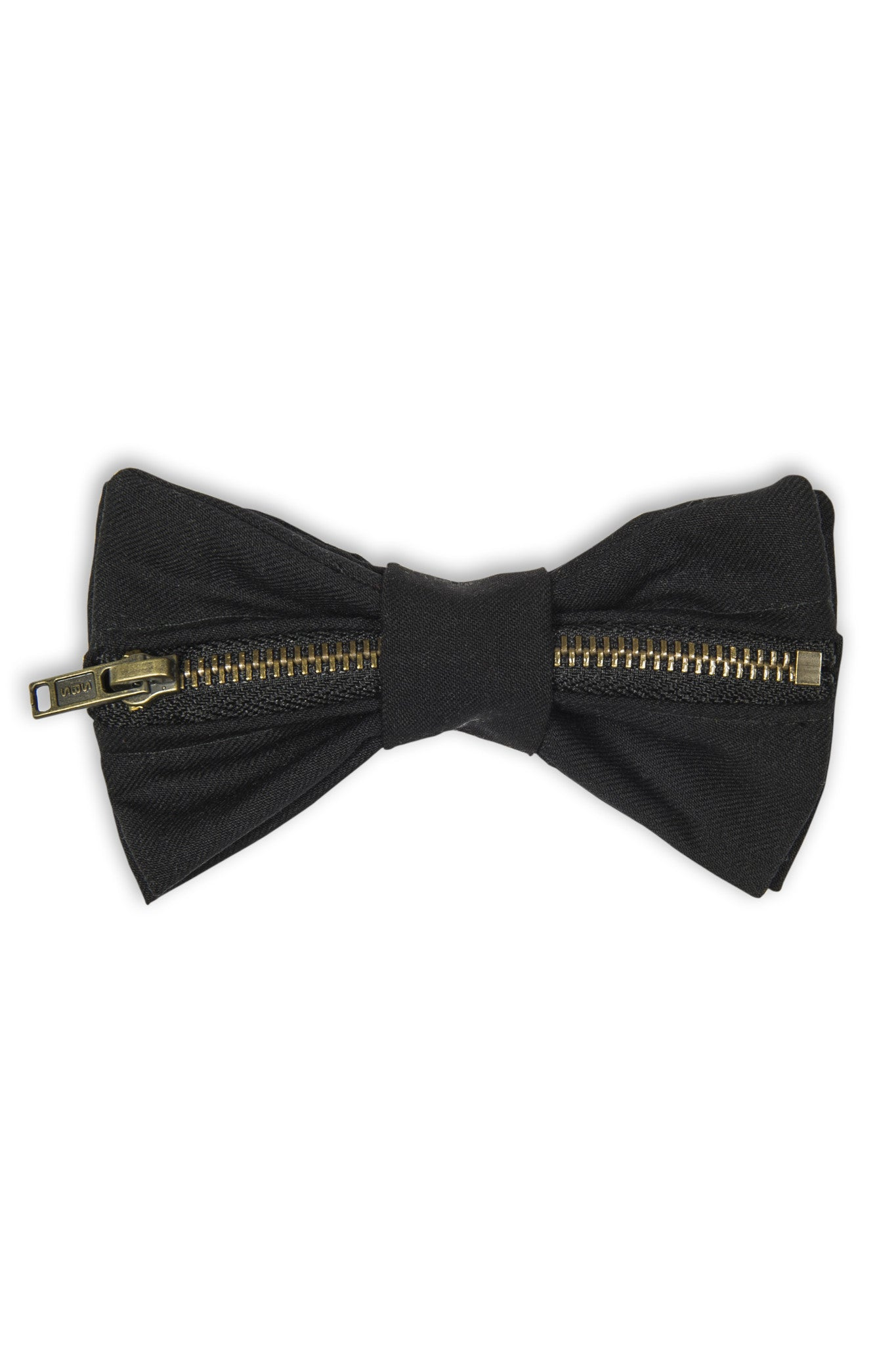 Noeud papillon avec fermeture éclair horizontale - handmade wool Bow tie with horizontal zipper