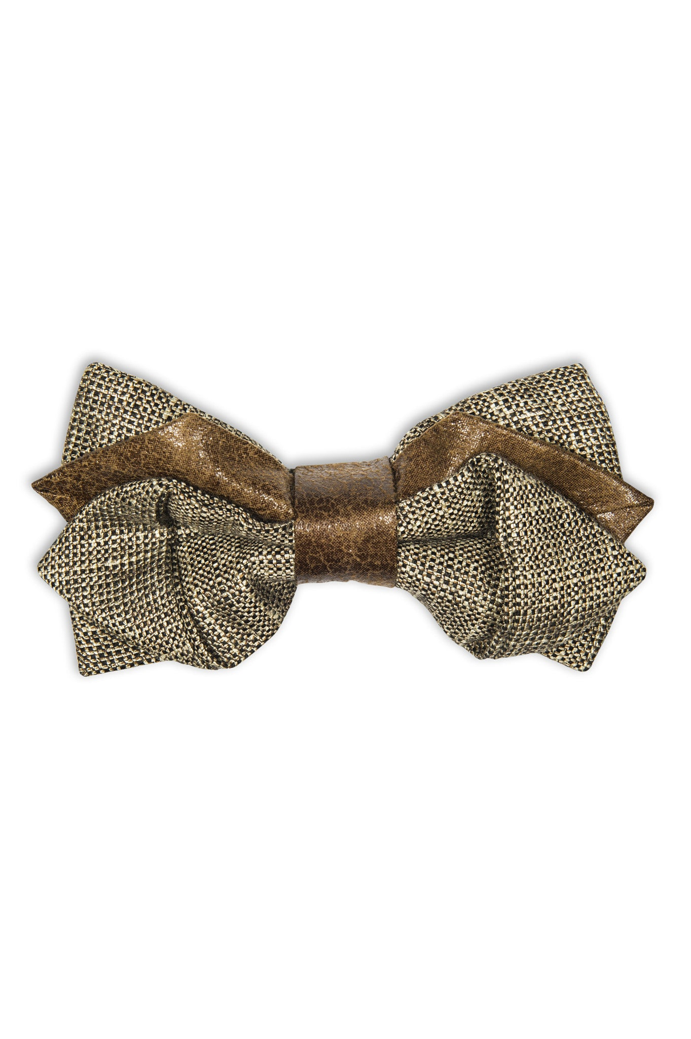 Handmade wool bow tie in a original cut - Noeud papillon avec coupe originale