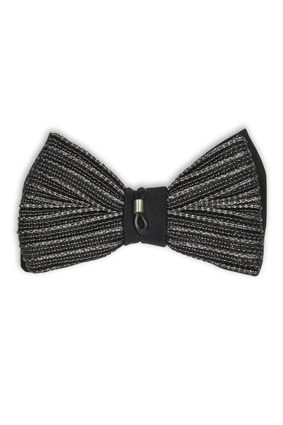 Noeud papillon avec attache métal sur le noeud - Italian fabric bow tie with attachment