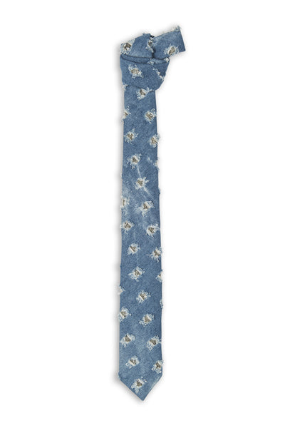 Cravate en jeans avec trous - Handmade jeans tie with holes