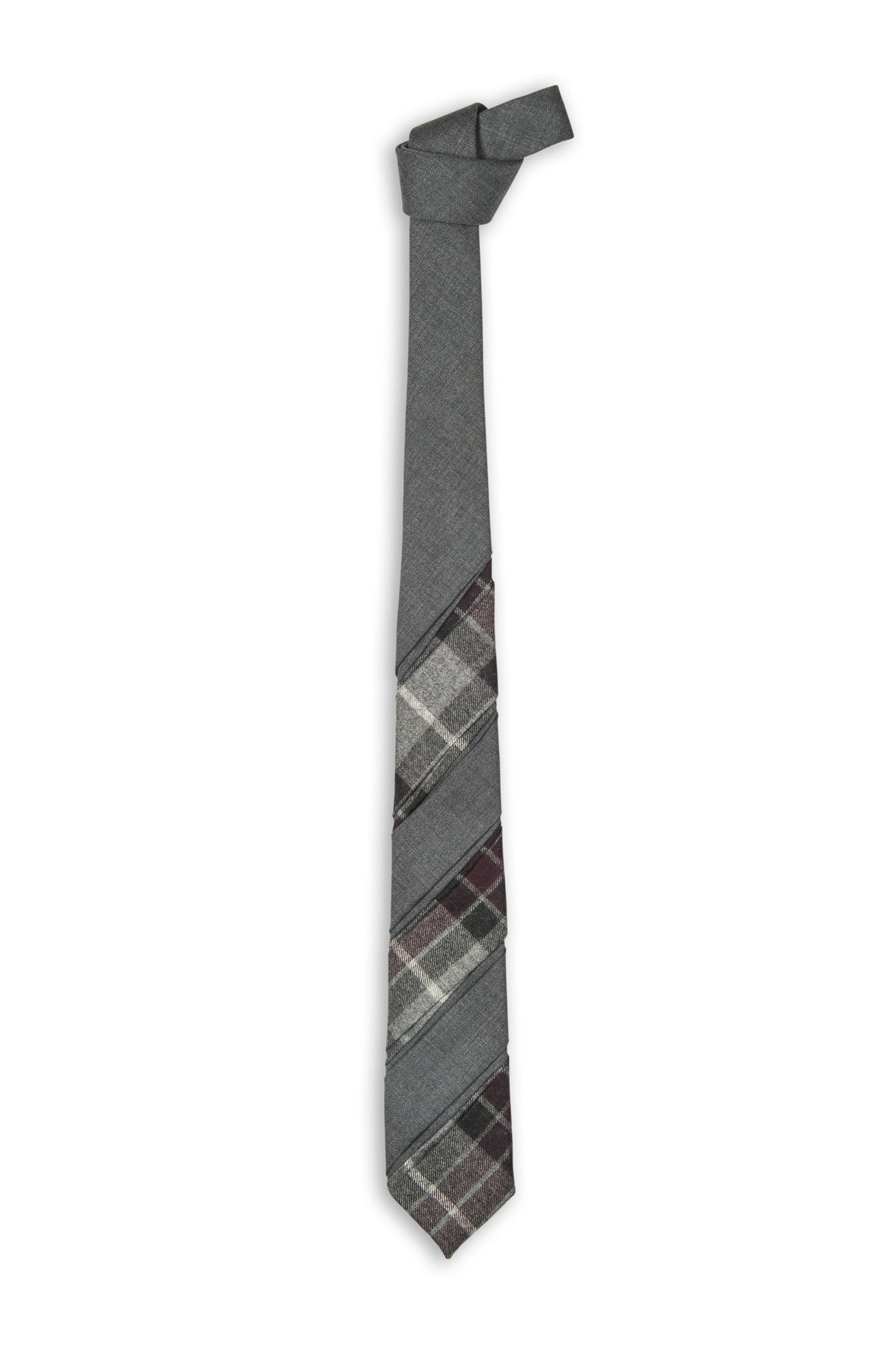 Cravate laine en différente section - Handmade wool tie in different section